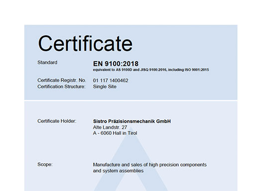 Downloads - Cards - EN 9100:2018 Certificate